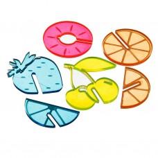 Juego de 6 identificadores para bebida Surtido Frutas