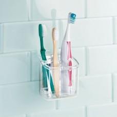 Organizador para cepillos de dientes AFFIXX Clear Interdesign